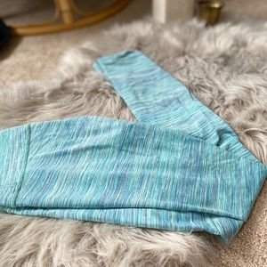 Lululemon Athletica Blue green legging size 2
